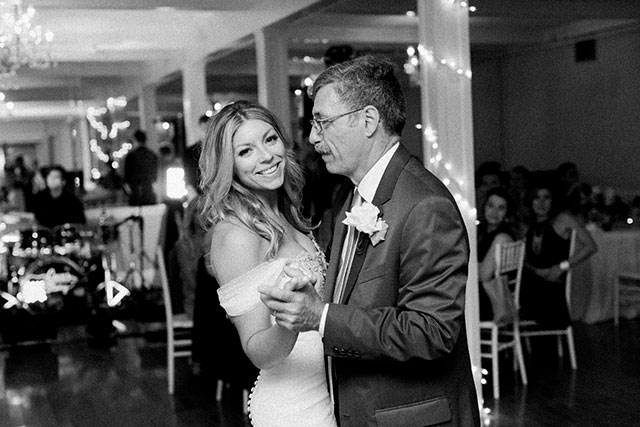 bride shares dance with father - Sarah Der Photography