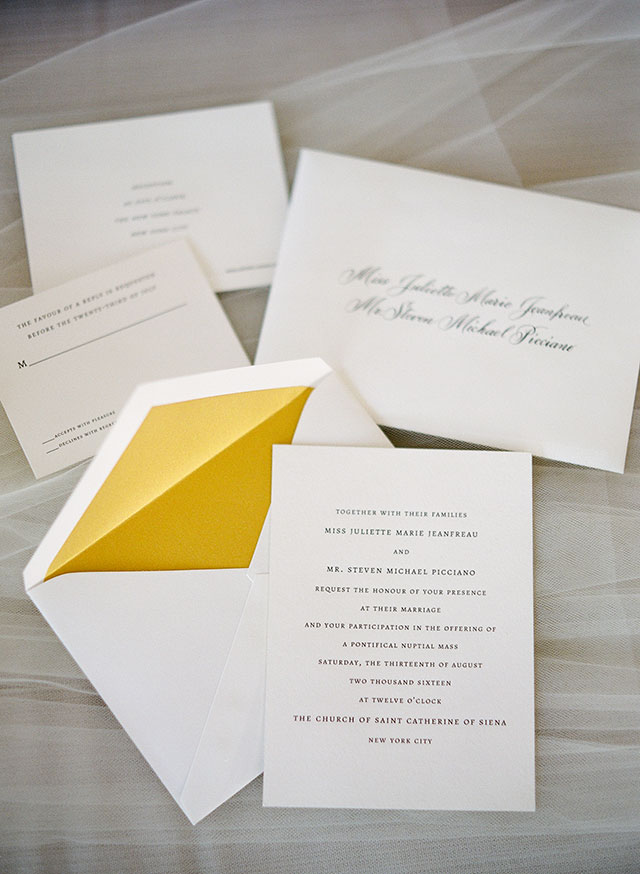 Crane Paper wedding invitations - Sarah Der Photography