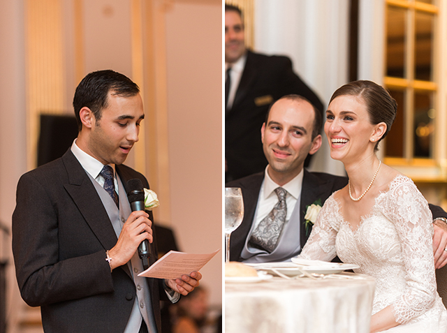 Toasts during reception - Sarah Der Photography