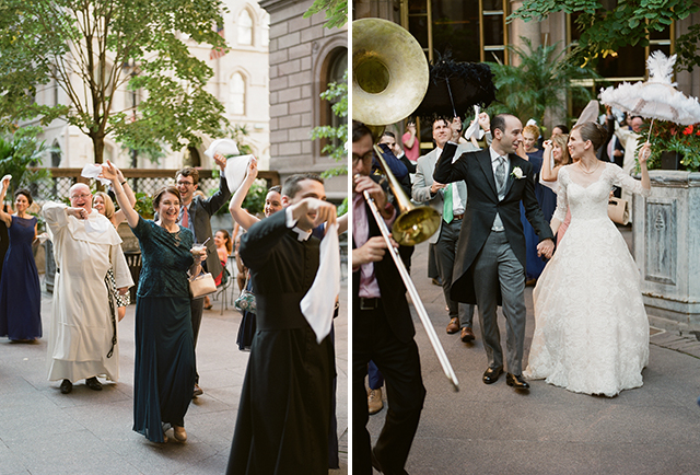 Louisiana brass band second line for new york wedding - Sarah Der Photography
