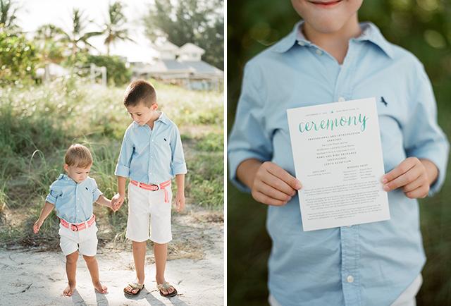 watercolor wedding programs - Sarah Der Photography