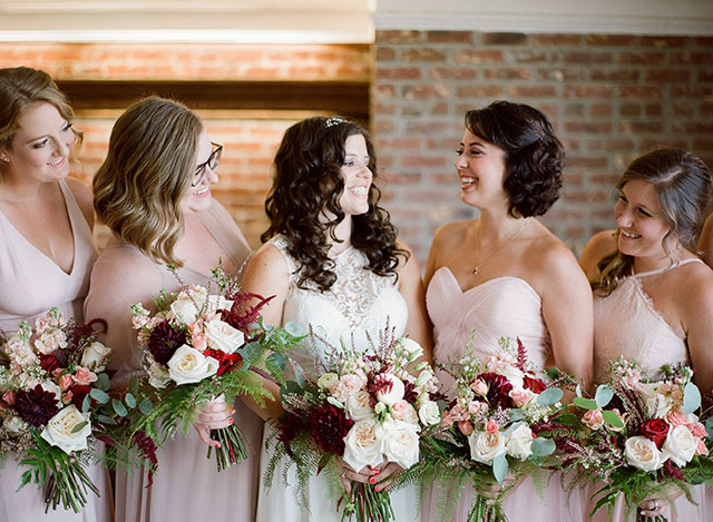 Del'avant Event Center wedding shot on film - Sarah Der Photography