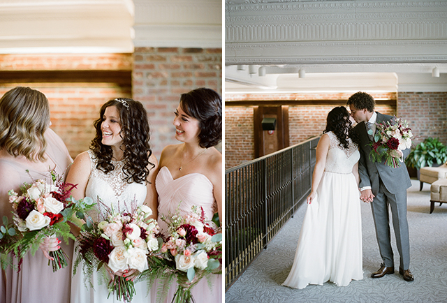 Candid wedding photos of bridesmaids and bride - Sarah Der Photography