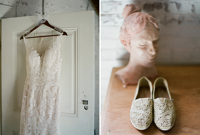 maggie sottero wedding gown with lace details - Sarah Der Photography