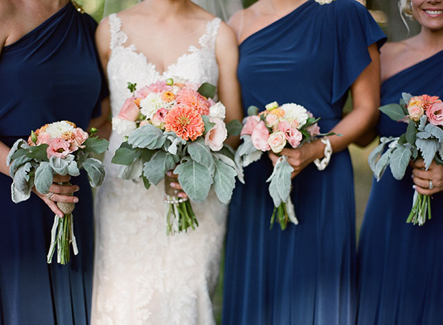 navy blue bridesmaids dresses from Jenny Yoo - Sarah Der Photography