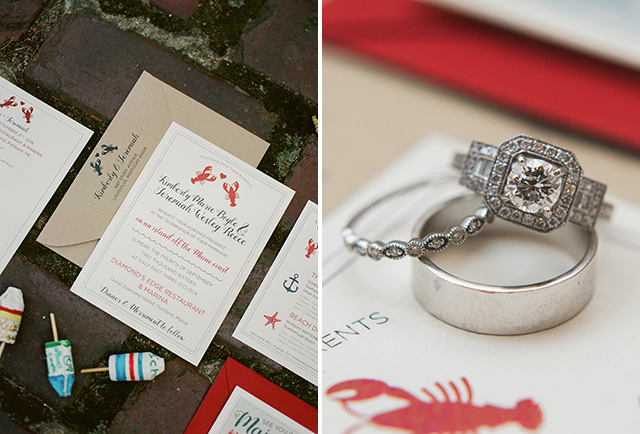 red lobster themed wedding suite - Sarah Der Photography