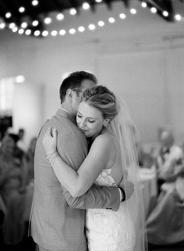 first dance shot on black and white film - Sarah Der Photography