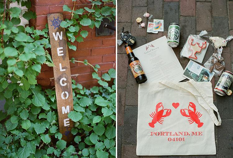 custom portland themed wedding welcome bags - Sarah Der Photography