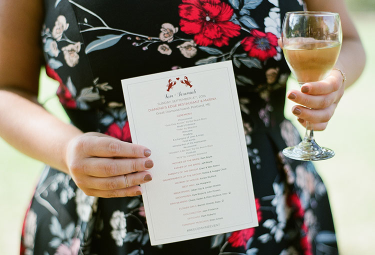 lobster dinner invitations - Sarah Der Photography