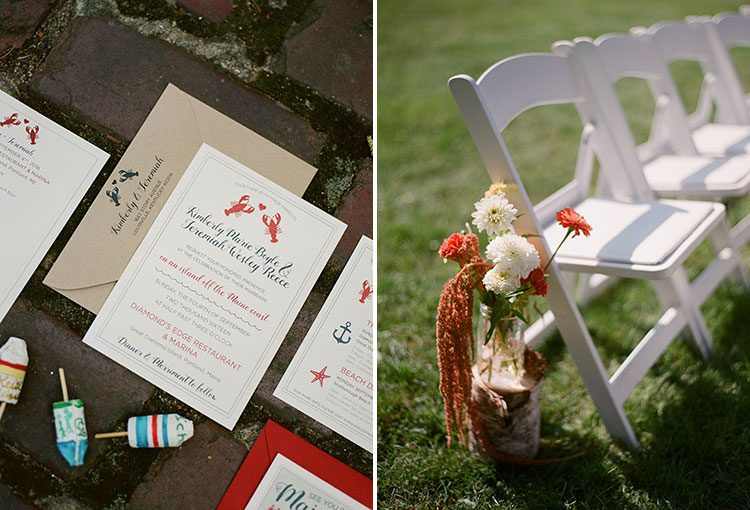 wildflower wedding details - Sarah Der Photography