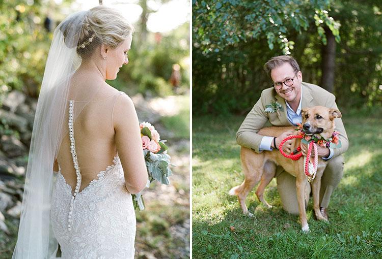 wedding day portraits on the casco bay - Sarah Der Photography
