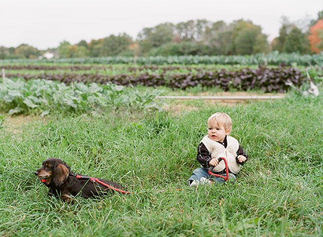 cute picture of boy with his pet dog - Sarah Der Photography