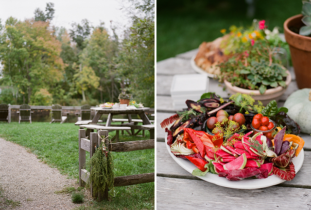 the lost kitchen maine created beautiful food for cocktail hour outside - Sarah Der Photography