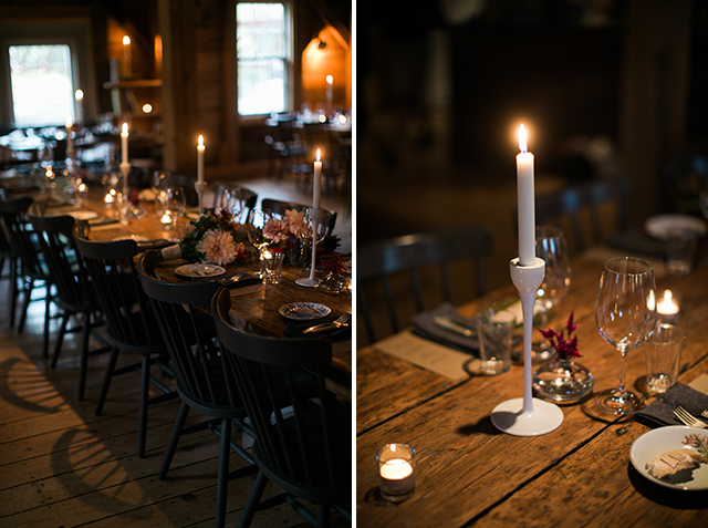 intimate farm to table reception dinner setup - Sarah Der Photography