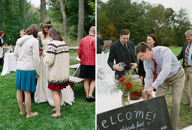 guests drink cider and cocktail - Sarah Der Photography