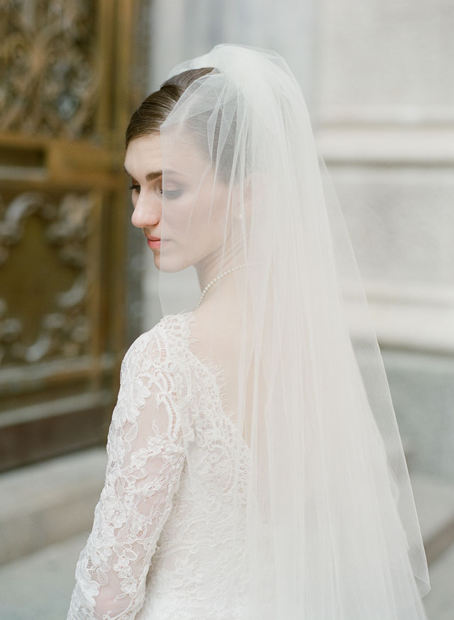 bridal portrait in downtown manhatten