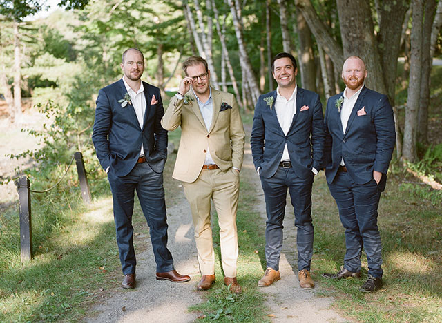 groom portraits on an island off the coast of maine