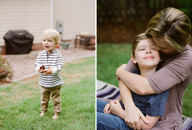 family photo inspiration for backyard shoots