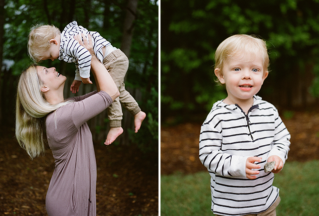 film photography of toddler and mom