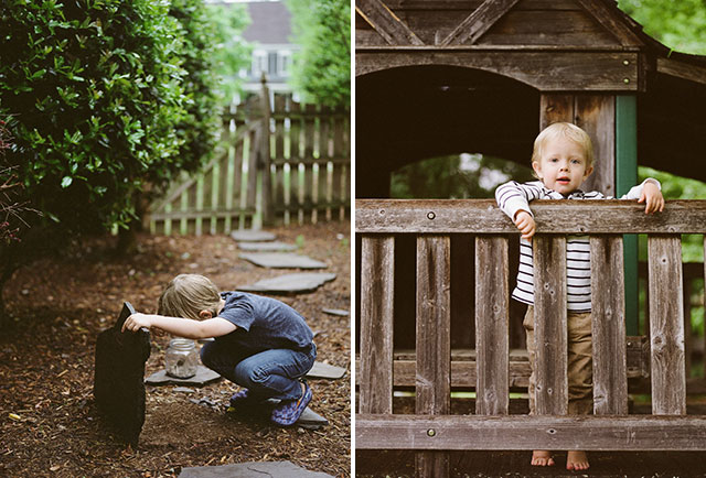 relaxed, natural photos of kids playing in back yard