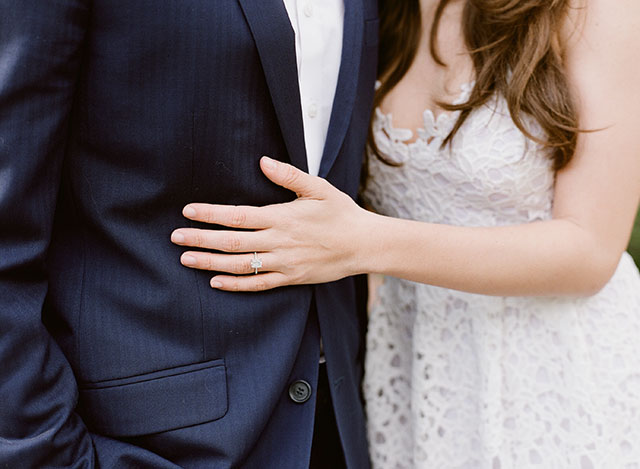 outfit ideas for engagement session suit and dress