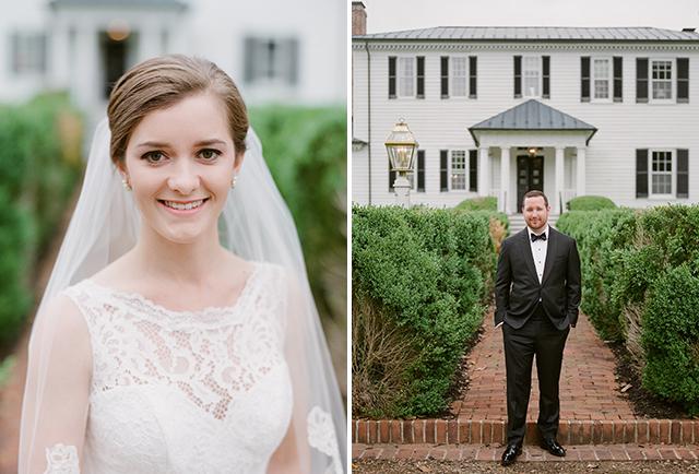 bridal portraits outdoors at mount ida farm