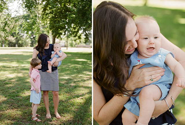 A Bryd Park family photo session in Richmond VA, with a mom and two sons.