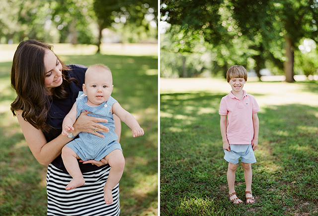 Relaxed portraits of a family at Byrd Park in Richmond, Virginia.