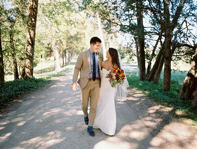 Tuckahoe Plantation Wedding portraits by film wedding photographer Sarah Der