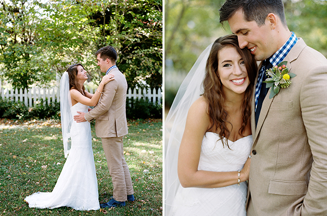 Wedding day portraits by richmond wedding photographer Sarah Der Photography, shot at Tuckahoe Plantation, fall colors and tan suit