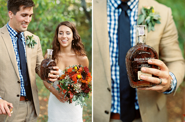 Southern tradition of burying the bourbon on your wedding day, Bullit dug up at Tuckahoe by bride and groom