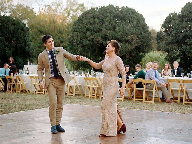 Sweet photo of groom dancing with his mother