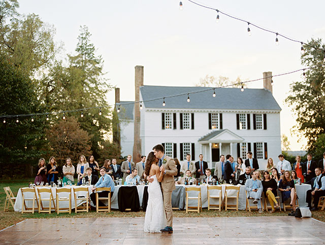 amazing first dance in front of the house at Tuckahoe Plantation - Sarah Der Photography