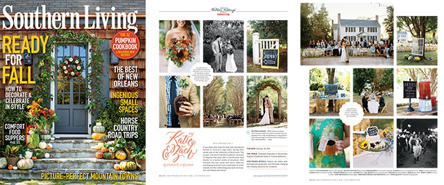 Richmond Wedding Photographer  Sarah Der published in Southern Living Magazine