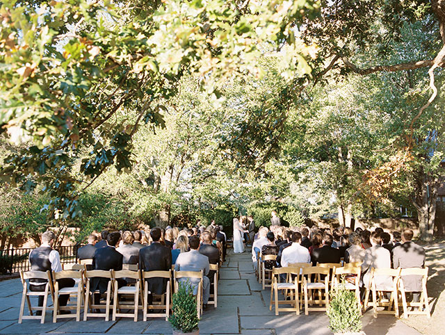 Outdoor wedding venue in Richmond, VA with trees