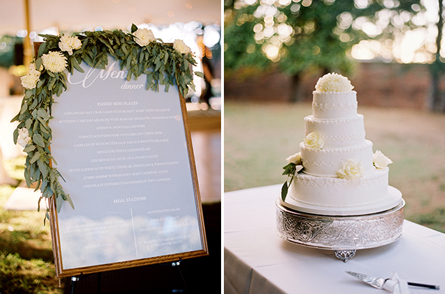 Elegant wedding reception details using eucalyptus