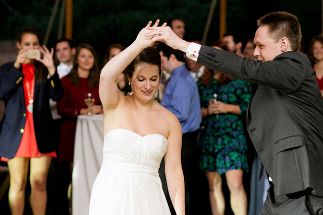 Couple dances to first dance song by Three Sheets to the Wind
