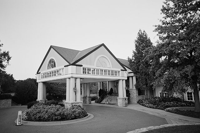 Bethesda country club black and white image of the club from the front