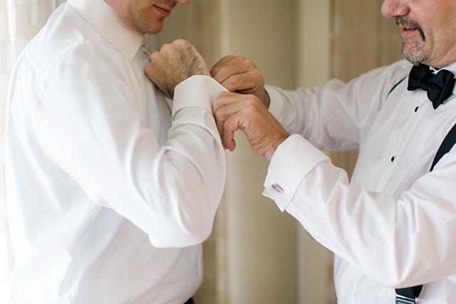 Bethesda Marriott groom getting ready for wedding