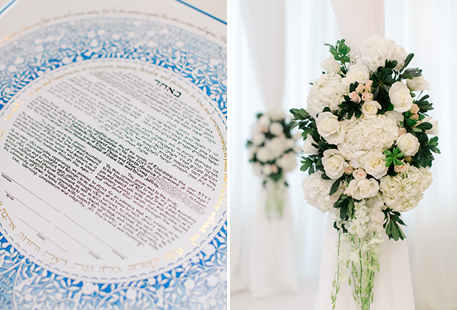 ketubah signing at bethesda country club for jewish wedding