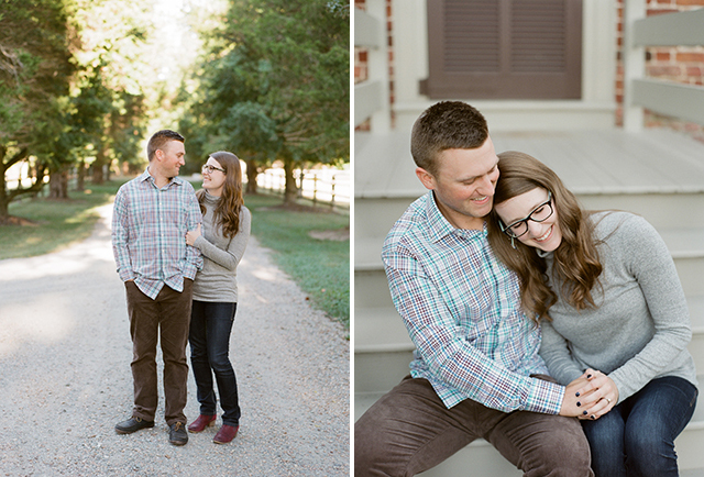 Seven Springs engagement session shot on film by Sarah Der Photography