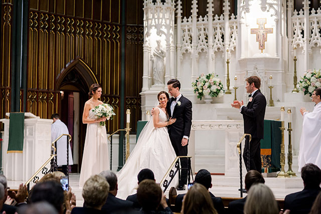 Catholic church wedding in downtown Philadelphia