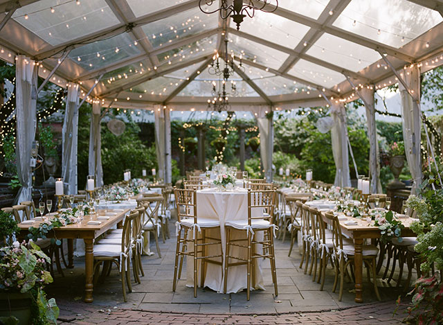 Outdoor reception at Morris House Hotel with Brass Tacks Events