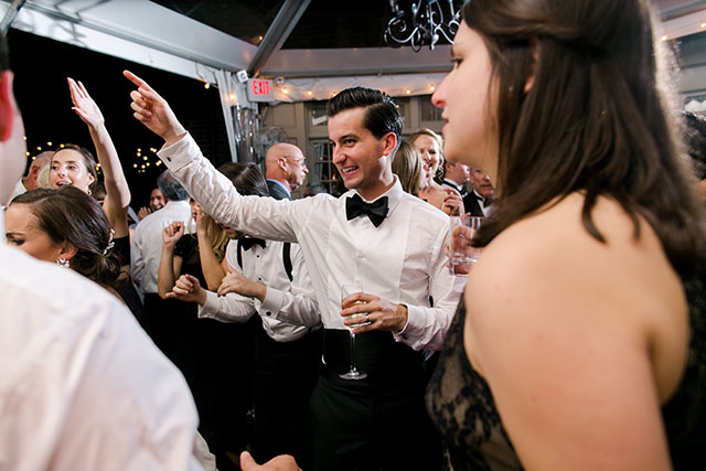 Groom does a disco dance