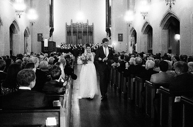 ilford 3200 35mm film used for ceremony shots at church