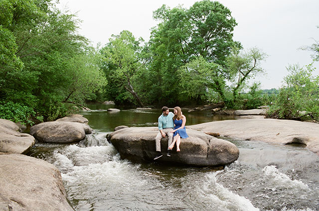 Reedy Creek James River portrait location with rocks and water in background  - Sarah Der Photography