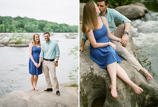 Laigh and Chris engagement session on film  - Sarah Der Photography