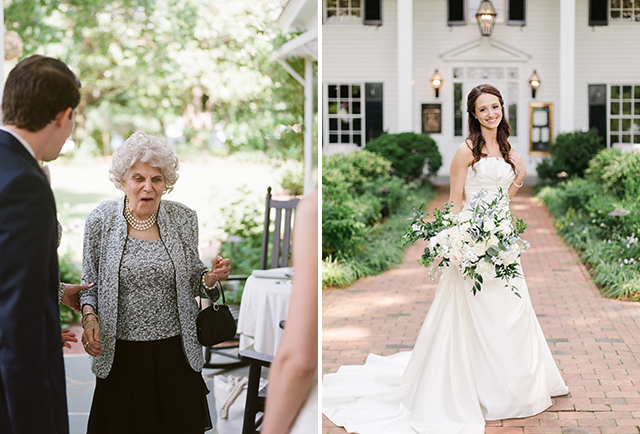 candid reaction from grandmother seeing bride for first time - Sarah Der Photography