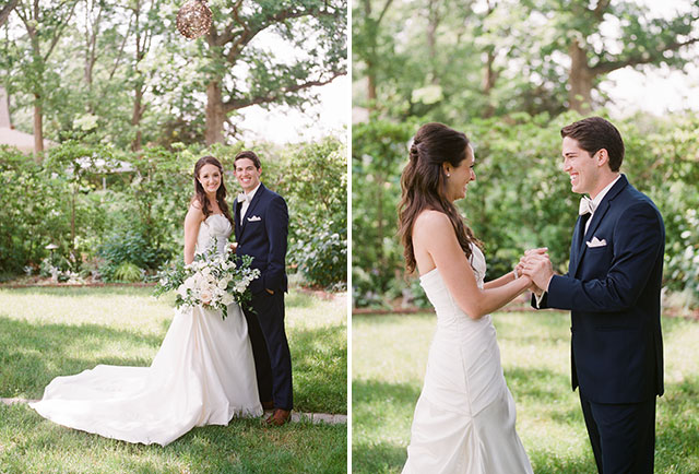 Outdoor summer wedding at Fearrington Inn shot by Sarah Der Photography