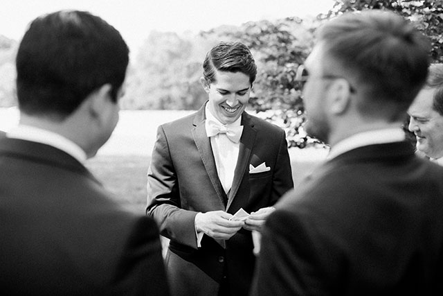 Groom folks pocket square - Sarah Der Photography
